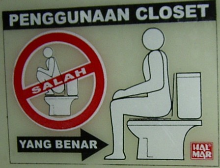Don\'t squat on the toilet seat!