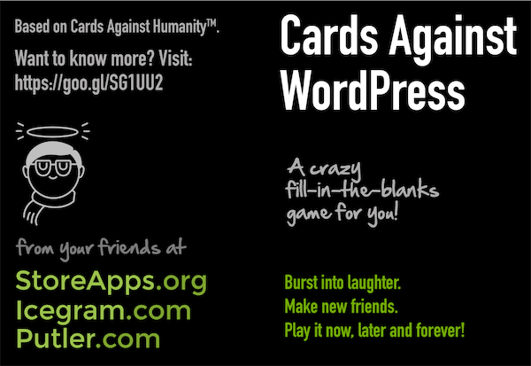 cards against wordpress