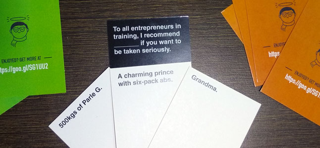 Cards Against WordPress, Startups, Developers, Bollywood...